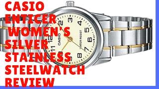 Casio Enticer Women's Silver Stainless steel Strap Watch LTP-V004G-9B