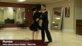 Rumba - James Dutton & Kelly Lakomy dance rumba at Arthur Murray Naperville Dance Studio