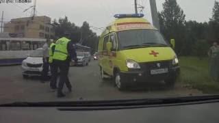 Сбили мужчину - ул. Ватутина (г.Омск - 28.07.2016г.)