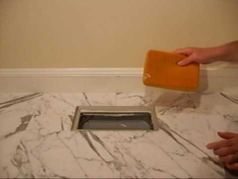 tile floor installation using flush mount floor register