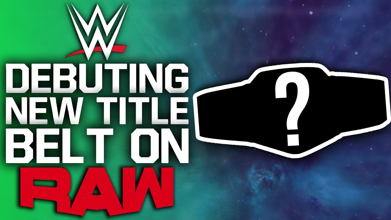 WWE Debuting New Title Belt On Raw | Superstar Currently Working Without Contract