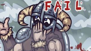 Repeat youtube video SKYRIM FAIL, Elder Scrolls V: Skyrim Parody