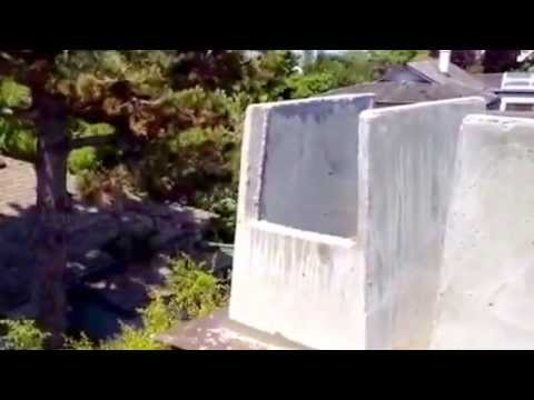 Repair Cracked Chimney Crown Sheet Metal Flashing Concrete