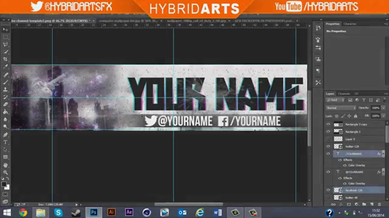 Epic gaming banner speed art #3 w/ template (PSD) - YouTube