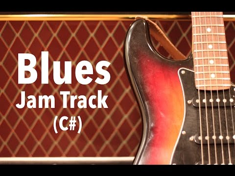 Chicago Blues Guitar Backing Track (C#)