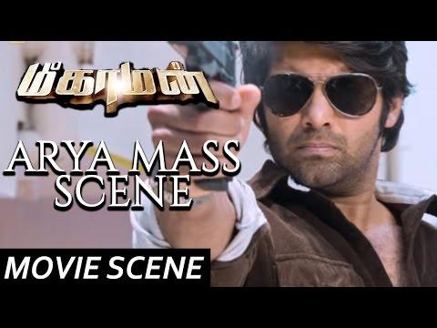 Arya Mass Scene  - Meaghamann | Scene | Arya, Hansika Motwani | S.S.Thaman