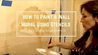 How to Paint a Mural Using Stencils by Cutting Edge Stencils. DIY decor ideas.