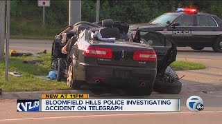 Single car accident in Bloomfield Township