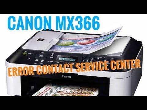 RESET CANON MX366 error 5b00