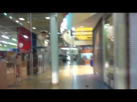 Polish guys drive car around Tesco Supermarket. Car Driven In Tesco.