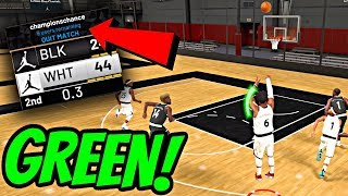MY GLITCHED GREEN JUMPSHOT MADE A 63 OVERALL GRADE OUT IN THE 1ST HALF! - NBA 2K19 JORDAN REC CENTER