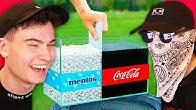 oddly satisfying videos (Coke vs Mentos)