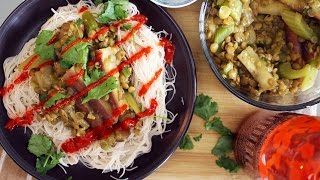 Chinese Eggplant Stir Fry With Garlic & Lentils | Mary's Test Kitchen