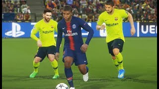 [PC] PSG vs FC Barcelona - Gameplay Nouveaux Maillots 2019 PES 2018