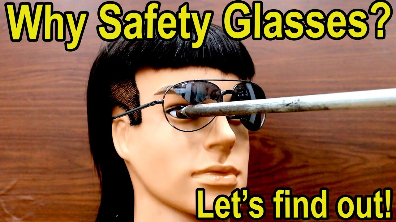 "Who Needs Safety Glasses? Billy Ray ""Mullet"" finds out!  Best safety glasses showdown"