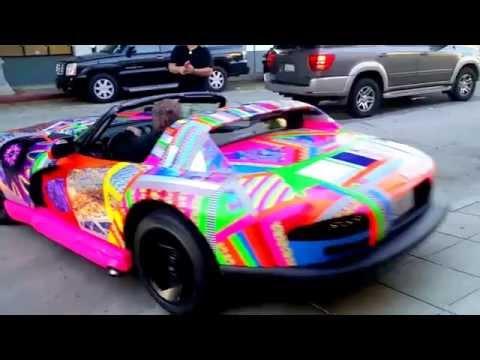 "Gartel Art  Car ""The Viper"" @ Street Art Fair LA"