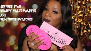 swatch time jeffree star skin frosts and beauty killer palette