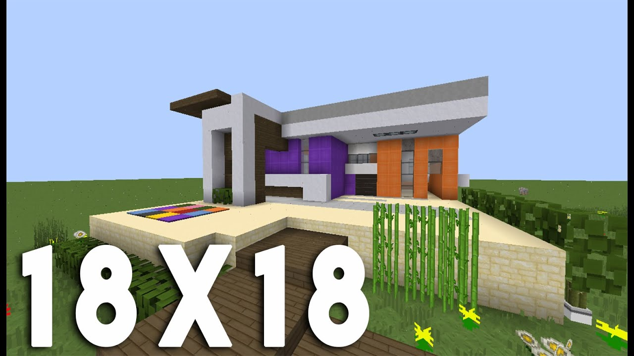 Minecraft tuto construction maison moderne en 18x18 youtube - Belle construction minecraft tuto ...