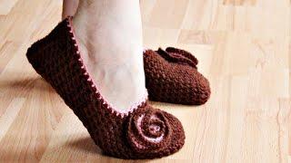 Вязанные балетки Crochet  flats shoes