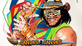 """The """"Macho Man"""" snaps onto the canvas: WWE Canvas 2 Canvas"""