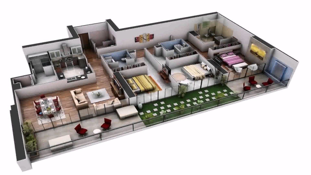 Best 3 Bedroom House Plans In India   YouTube Best 3 Bedroom House Plans In India