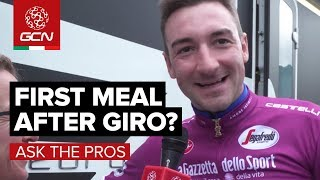 What Will Be Your First Meal After The Giro d'Italia?   GCN Asks The Pros