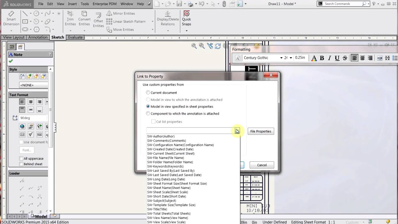 solidworks drawing template tutorial - solidworks drawing templates vs sheet formats youtube