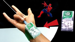 How to make Spider-Man Web Shooter with tic tac  DIY Spiderman web  easy web shooter tutorial