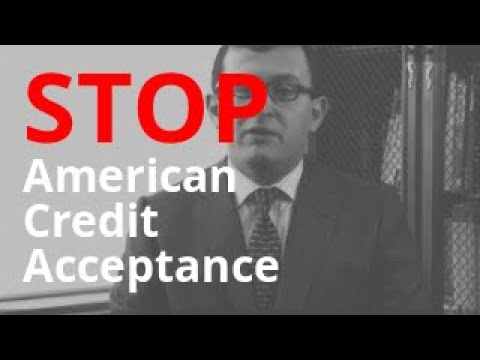 American Credit Acceptance Calling? | Debt Abuse + Harassment Lawyer