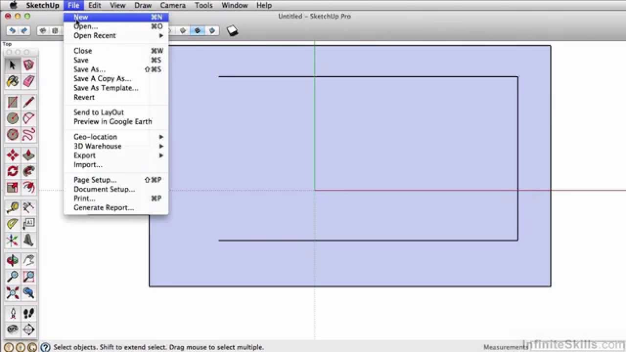 SketchUp Pro 2014 Tutorial | Rectangle Tool
