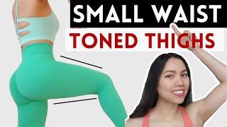 21 DAYS toned slimmer thighs, burn saddlebags  workout video
