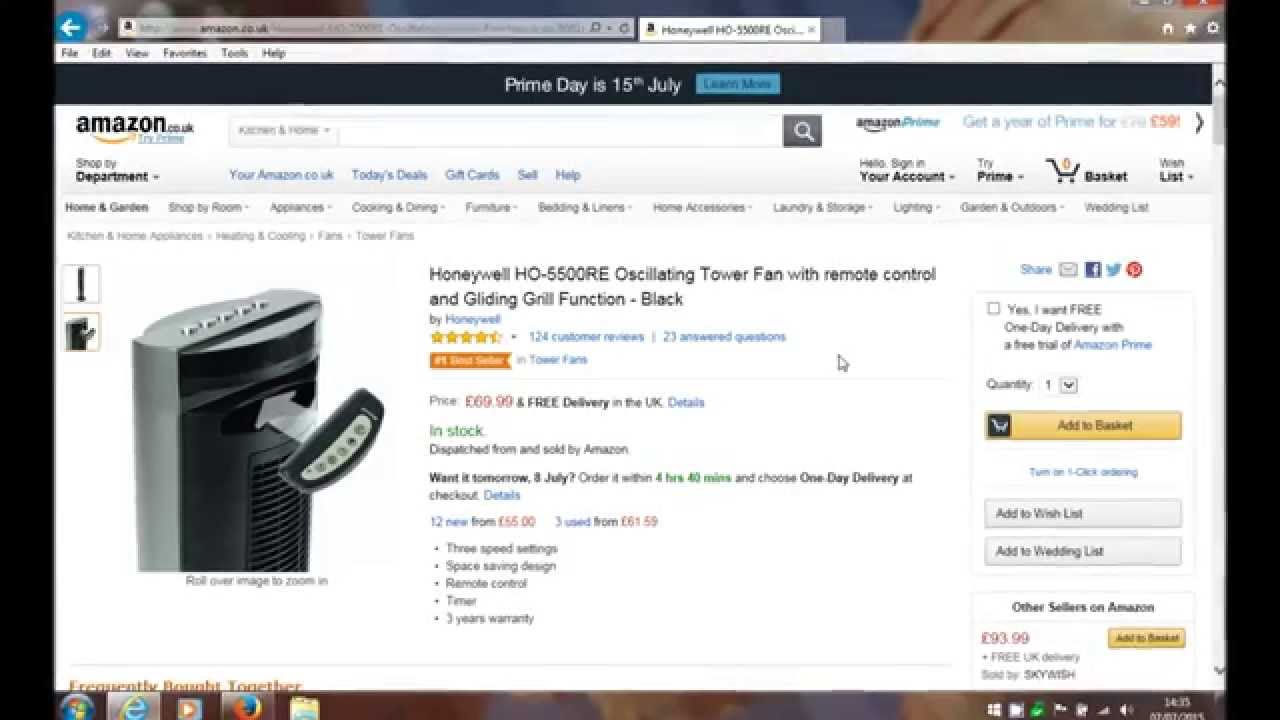 Honeywell HO 5500RE Oscillating Tower Fan Review YouTube