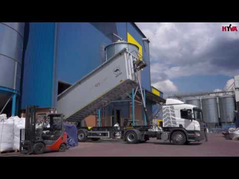 WIELTON semi-trailer for grain transport with Scania tractor