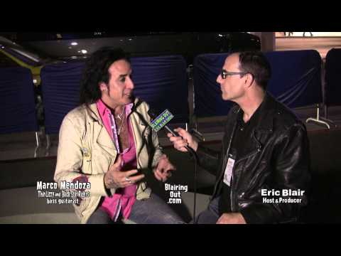 Thin Lizzy's  Marco Mendoza talks w Eric Blair @ Namm 2014