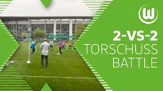 2-vs-2 Torschuss-Battle - Weghorst, Ginczek Malli uvm.   VfL Wolfsburg