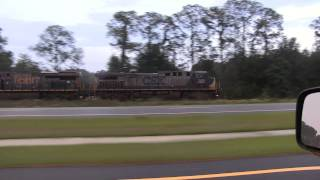 Checking Up on Baldwin Construction and Chasing Trains South - May 2013