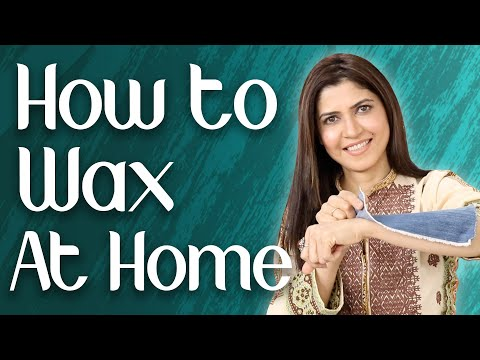 How to Wax at Home/ DIY Sugar Wax Tutorial for hair removal - Ghazal Siddique