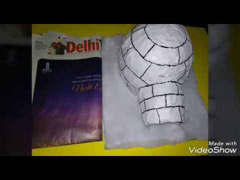How to make NEWSPAPER IGLOO for Kids -School Project/Model -How to build an igloo at home-Craft idea