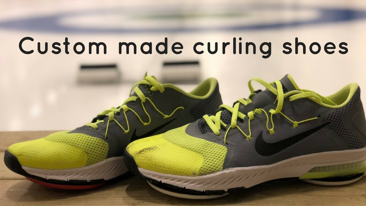 1934ff15b89e3 Custom made curling shoes - YouTube