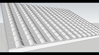 how to make tile roof in sketchup without using plugins