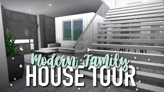 MODERN FAMILY HOUSE TOUR ♡ | Roblox Bloxburg | Arabellaa