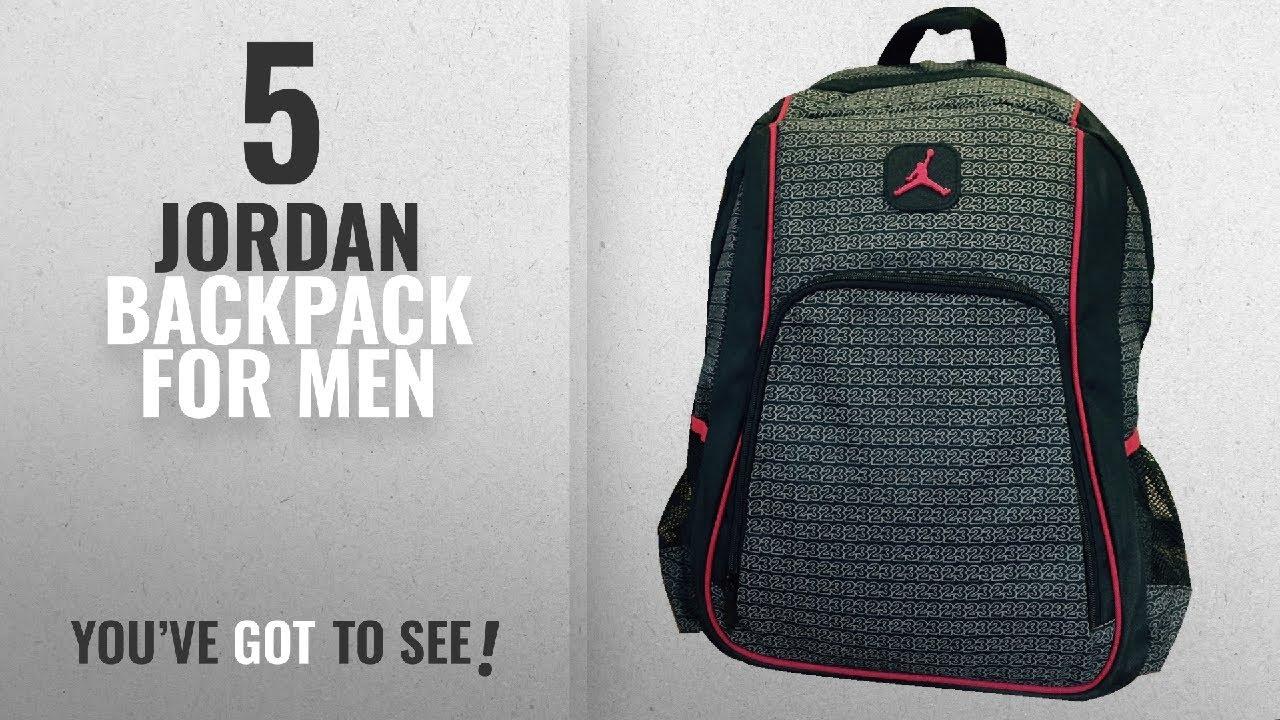 6bb7c294dd7 Top 10 Jordan Backpack [2018 ]: Jordan Boys Black & Red 23 Backpack ...