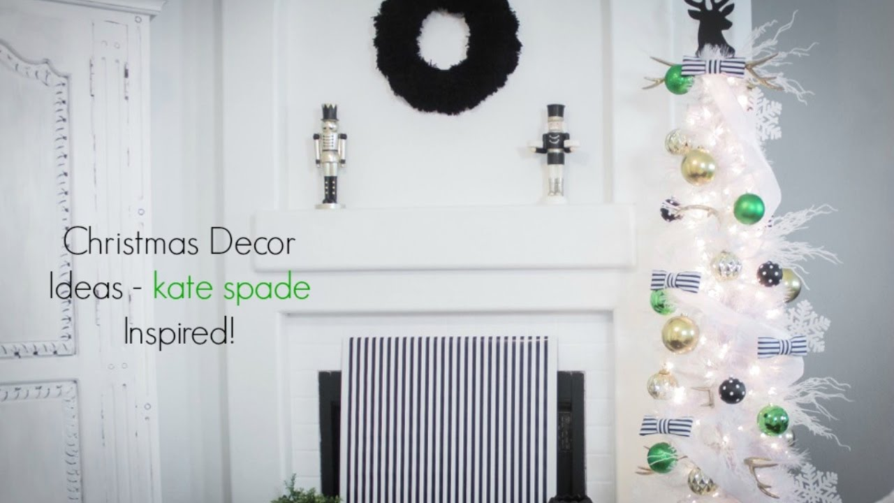 Christmas Decor and Home Tour - Kate Spade Inspired! - YouTube