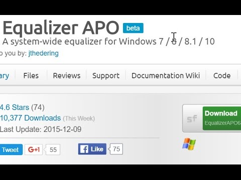 Boost mic level in Windows 10 with Equalizer APO