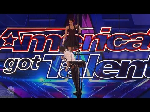 America's Got Talent 2016 ThroWings Incredible Human Trapeze Artists Full Audition Clip S11E05