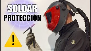 Protección personal para SOLDAR, SEGURIDAD en el trabajo.
