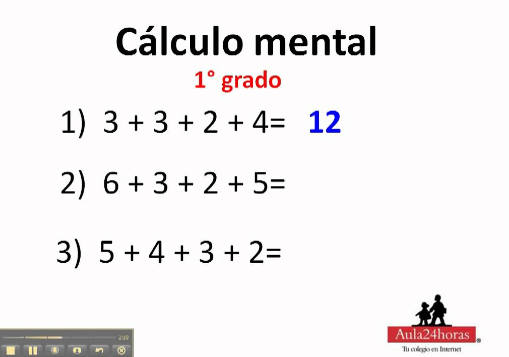 Calculo mental. 1° de primaria - YouTube