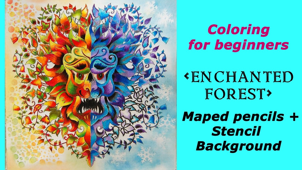 Coloring Enchanted Forest With Budget Pencils Stencil Background