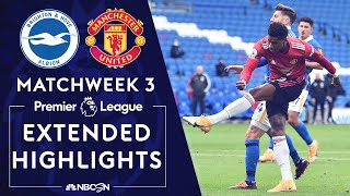 Brighton v. Manchester United | PREMIER LEAGUE HIGHLIGHTS | 9/26/2020 | NBC Sports