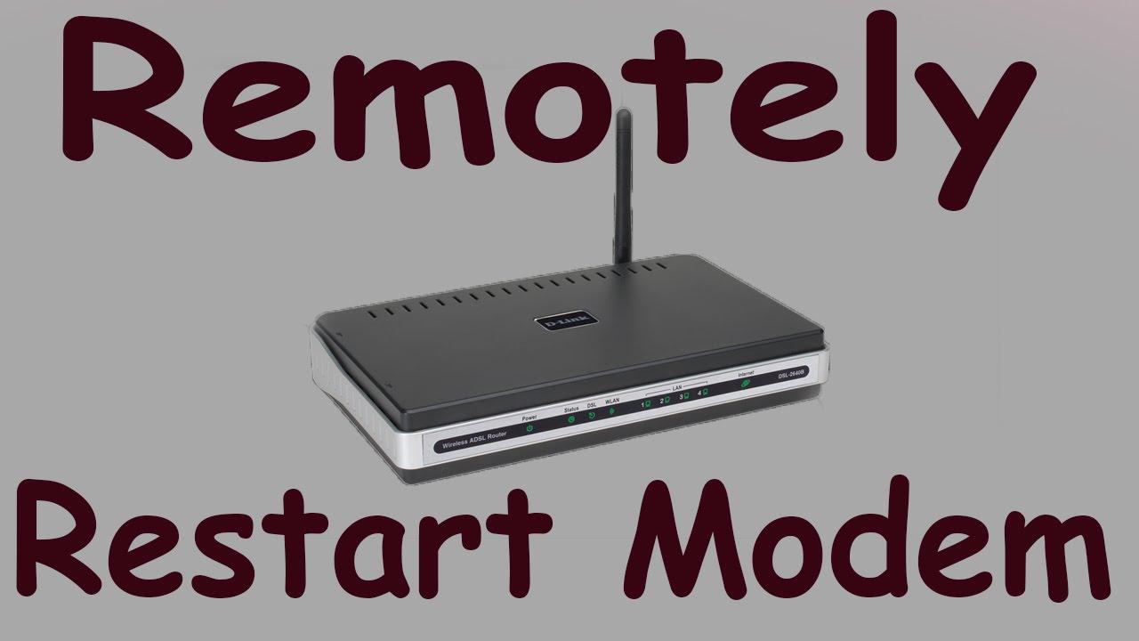 how to restart USB modem remotely